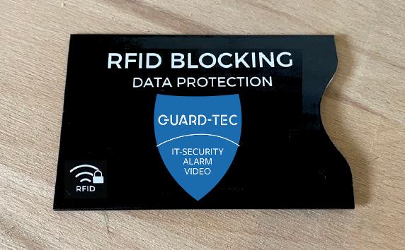 Sicherheitstechnik Guard-Tec NFC-Schutzhülle Alarmanlage Videoüberwachung Zutrittskontrolle Bonn Siegburg Köln St. Augustin Bonn-Rhein-Sieg